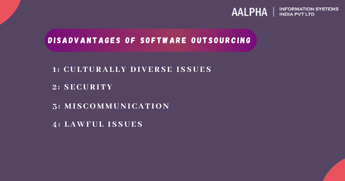 Disadvantages of software outsourcing