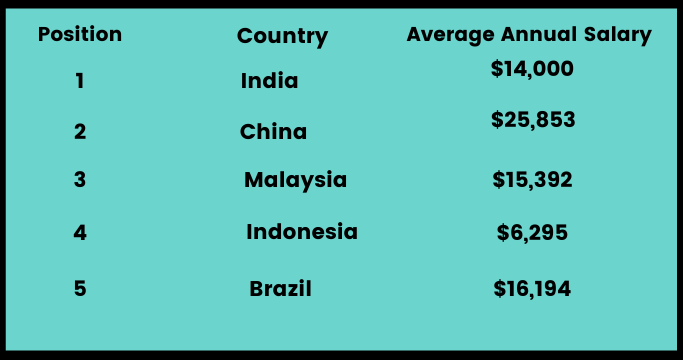 developers average annual salary