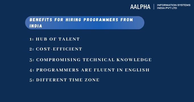 Benefits for hiring programmers from India