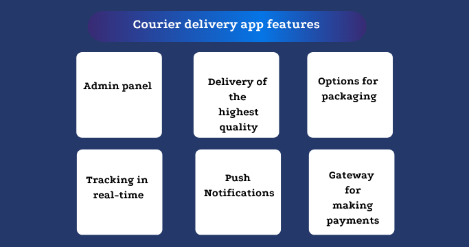 Courier delivery app features