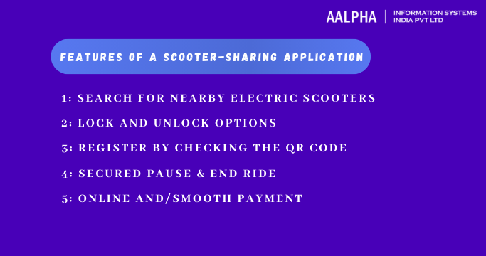 Features of a scooter-sharing application