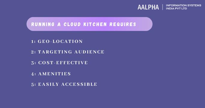 Running a cloud kitchen requires