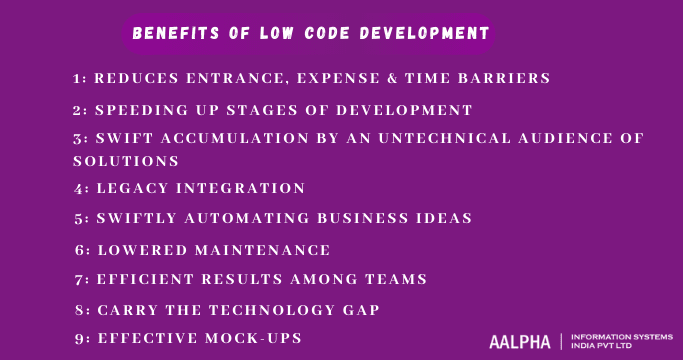 benefits of low code development