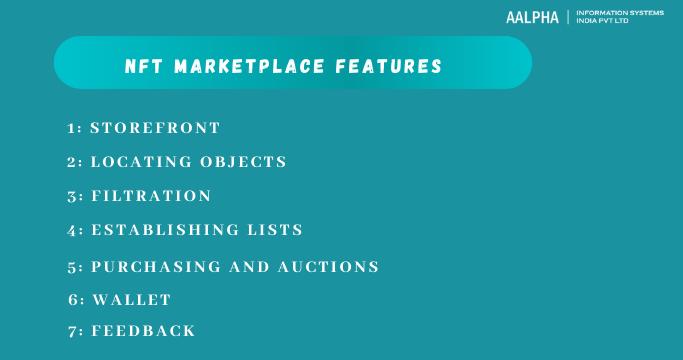NFT marketplace features