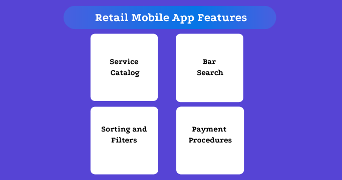 Retail Mobile App Features