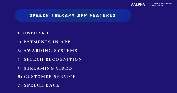 Speech Therapy App Features